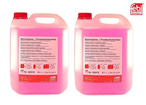 SET! 2 x 5 L FEBI BILSTEIN 22272 Frostschutzmittel G12 ROT für Kühler Frostschutz