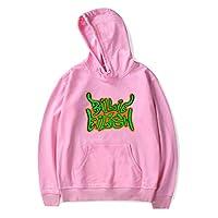 SIMYJOY Pullover Hoodie Cotton Long Sleeve Fashion Hooded Sweatshirt pink S