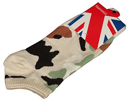 Lot de 2 Flag chaussettes en coton chaussettes pour hommes café léger