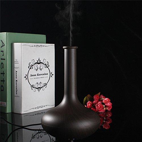 KING DO WAY Elegante USB Ultrasuoni Aromaterapia Umidificatore Purificatore Dell'aria del Diffusore Dell'aroma Mist Aromaterapia - Adatto a Studio, Ufficio, Casa legno scuro