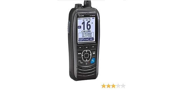 Icom M93d Wasserdichtes Handheld Vhf Dsc Radio Grey Flash Futter Sport Freizeit