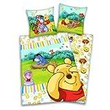 Disney Baby Bettwäsche Garnitur Winnie the Pooh Renforce verschiedene Motive (Winnie 123)