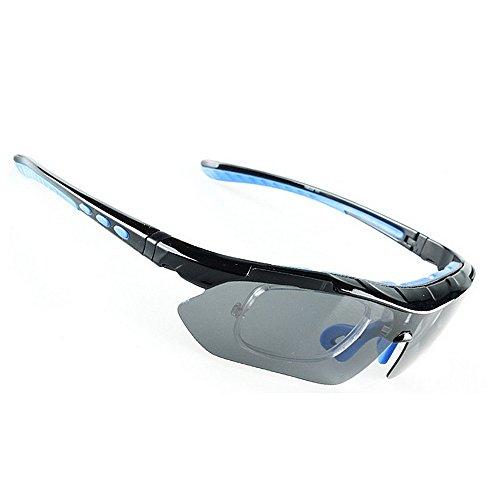 Ombrelloni sportivi occhiali da sole polarizzati sportivi con telaio infrangibile lenti intercambiabili per uomo donna protezione uv per la corsa in bicicletta baseball fishing driving occhiali da m