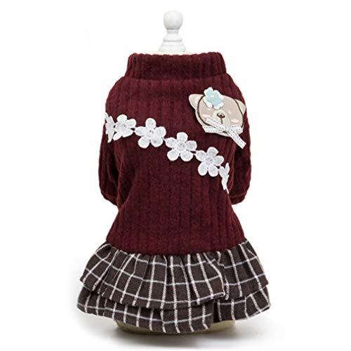 Pet Dog Cats Dress Sweater Hermosa DecoracióN De