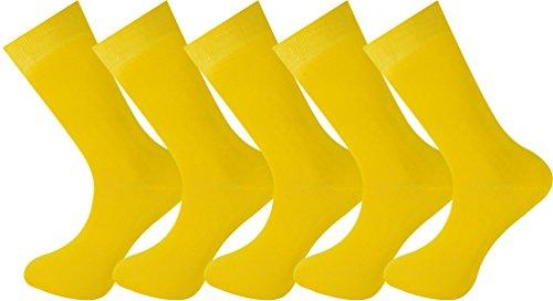5 pares de calcetines amarillos hombre y mujer