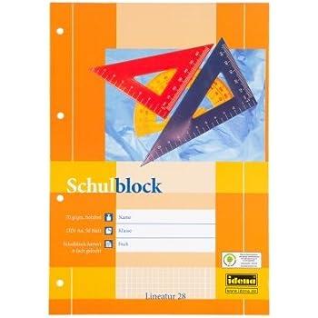 2 Schulbl/öcke//Schreibbl/öcke kariert DIN A4 50 Blatt je Block