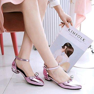 LvYuan Da donna-Sandali-Tempo libero Ufficio e lavoro Casual-Altro-Basso-PU (Poliuretano)-Rosa Argento Dorato Pink