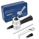 Knabber Schneidwerkzeug Kit Doppelkopf Blechschneider mit Schraubenschlüssel und Teile Workshop Schneidwerkzeug für die Reparatur Wartung (5Pcs Set, Iron Tool Box)