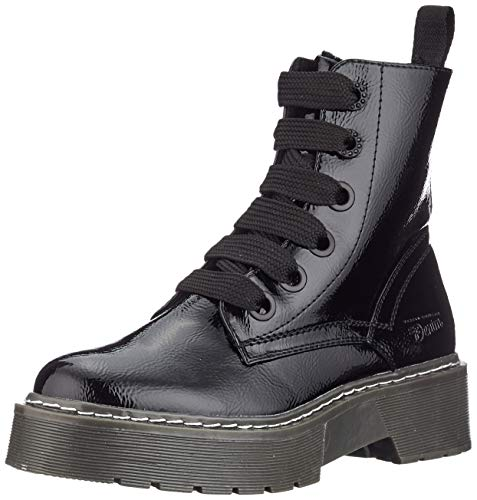 TOM TAILOR Denim für Frauen Schuhe Plateau-Stiefel in Lackleder-Optik Black, 38