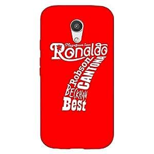 Jugaaduu Manchester United Ronaldo Back Cover Case For Moto G (2nd Gen)