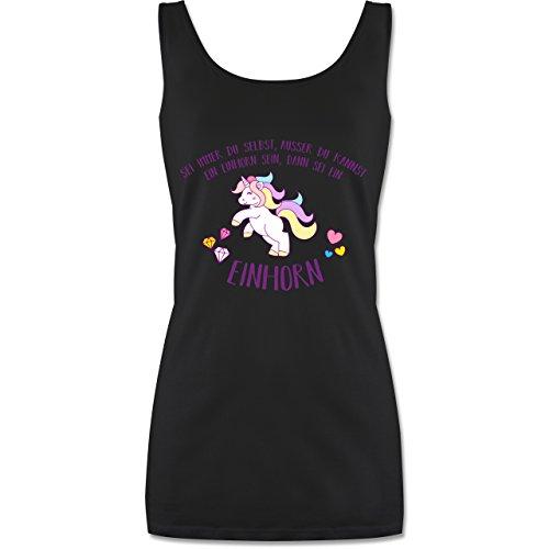 Einhorn Unicorn - sei immer du selbst, ausser du kannst ein Einhorn sein - Damen Tank Top Schwarz
