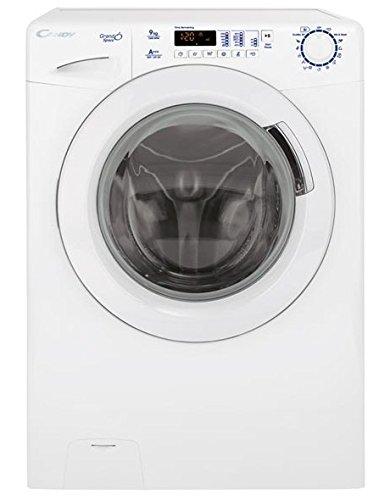 Candy GSV 139D3/1-S Autonome Charge avant 9kg 1300tr/min A+++ Blanc machine à laver - machines à laver (Autonome, Charge avant, Blanc, Gauche, Acier inoxydable, 58 L)