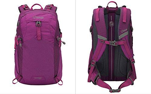 HWLXBB Outdoor Bergsteigen Paket Männer und Frauen 40L Wasserdichte Mehrzweck-Bergsteigen Tasche Wandern Camping Bergsteigen Rucksack 3*
