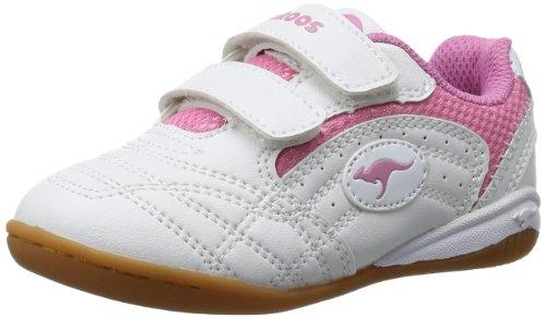 KangaROOS Babyyard, Baby Mädchen Lauflernschuhe, Weiß (white/pink 006), 26 EU