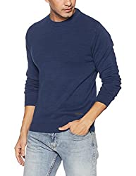 Lee Mens Cotton Sweater (8907649226391_L29041J24E4100L_Jsw-Indigo)