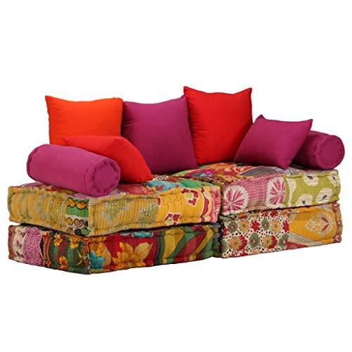Xingshuoonline Sofá Cama Modular de 2 Plazas de Tela Patchwork Sofa Material del Tapizado: Tela
