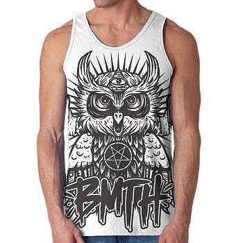 Bring Me The Horizon - Camiseta - Hombre de color Blanco de talla X-Large - Bring Me The Horizon - Uomo Owl Tank Tank Top in Bianco, X-Large, Bianco