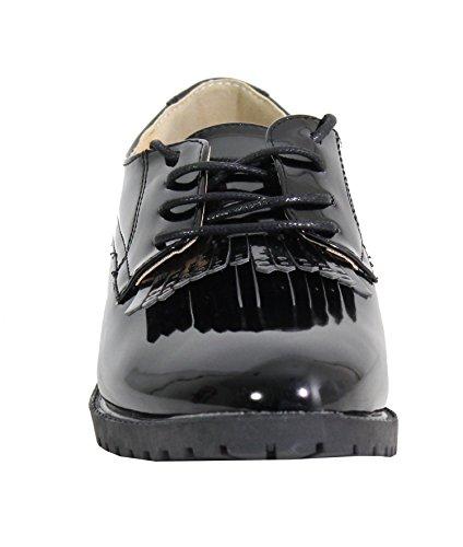 By Shoes Damen Schnürhalbschuhe Schwarz