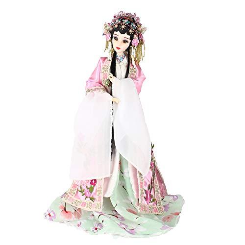 ZHAOJIANHUI 35cm handgemachter chinesischer Alter Kostüm-Puppen Peking-Oper Lady Du Puppen BJD Mädchen Puppe (Bilder Der Alten Lady Kostüm)