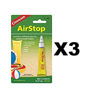 Coghlan's Airstop Vinyl Inflatables Repair Liquid Patch Air Mattresses (3-Pack)