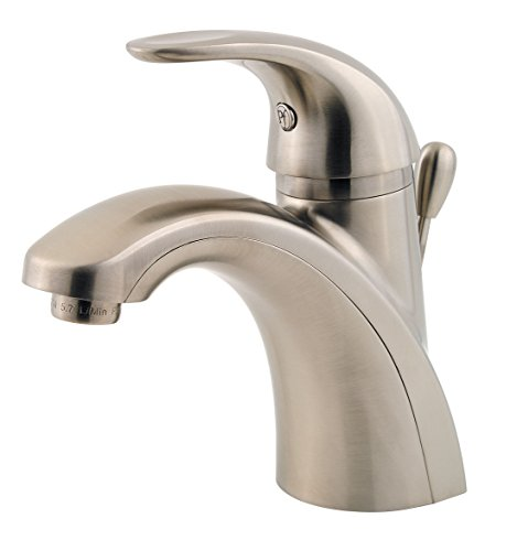 Pfister lf042prkk Parisa Single Control 10,2cm Centerset Badezimmer Wasserhahn in Nickel gebürstet -