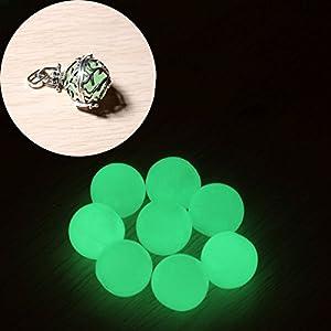 Acryl Perle Leuchten im Dunkel Grün für Harmonie Ball Engelsrufer ca. 16mm 1Stück