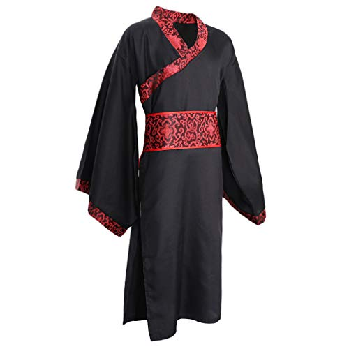 Chinesischen Männer Alten Kostüm - Hellery Verbesserte Chinesische Hanfu Alten China Tang Anzug Robe Kleid Cosplay Kostüm Männer - S