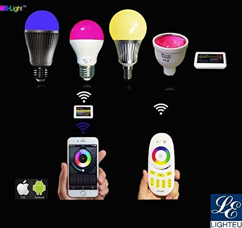 2.4G Wireless Steuermodul RGBW Controller Wlan fuer LED Lampe Licht