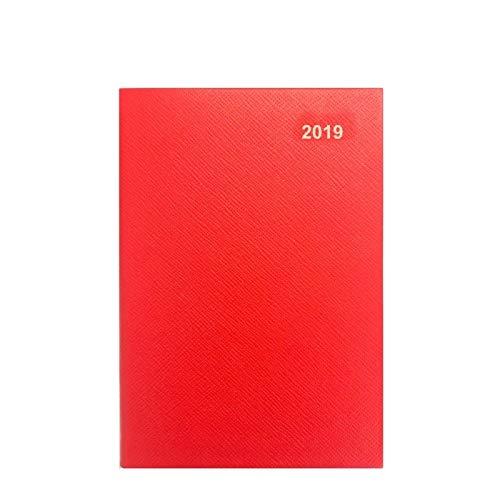4baccf922aa 2019 Agenda. Cuir relié A5 Rouge 1 semaine par page. Emballé dans une boîte