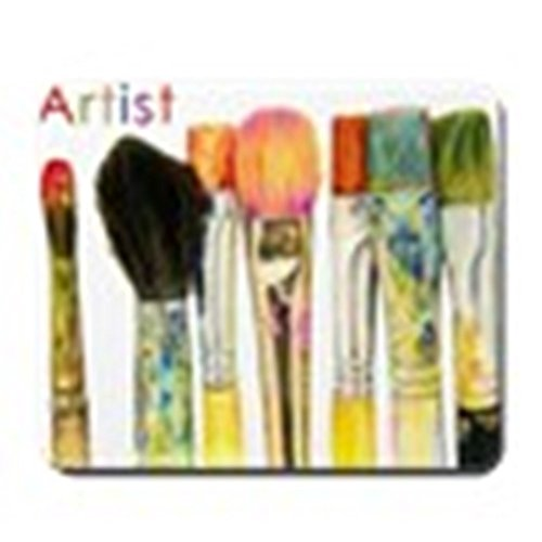 CafePress–artist-paint-brushes-02–rutschfeste Gummi Mauspad, Gaming Maus Pad