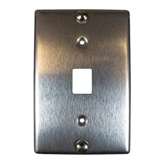 Allen Tel Products AT630B-8 Single Gang, 1 Port, 8 Position, 8 Conductor Wall Telephone Outlet Jack, Stainless Steel by Allen Tel Products