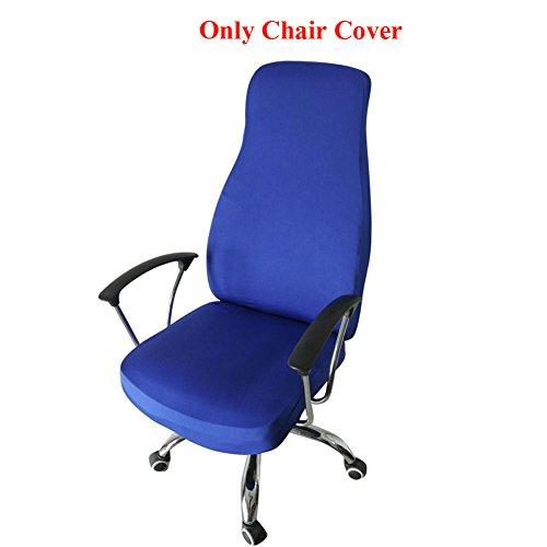 Höhe 7 Stück Esszimmer (ozzptuu Spandex Elastic Stuhl Bezug robustem Pure Color Split dünn Abschnitt Stuhl deckt für Computer Büro Schreibtisch königsblau)