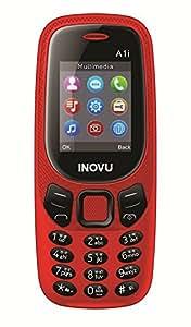 Inovu A1i Dual Sim Basic Mobile Phone (Red, Upto 32 GB)