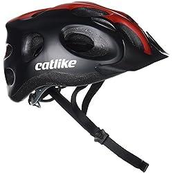 Catlike Tiko Casco de Ciclismo, Unisex adulto, Negro / Rojo, M/55-61 cm