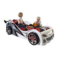 Vipack scbb200W Brap Car Bed White MDF 240x 110x 65cm