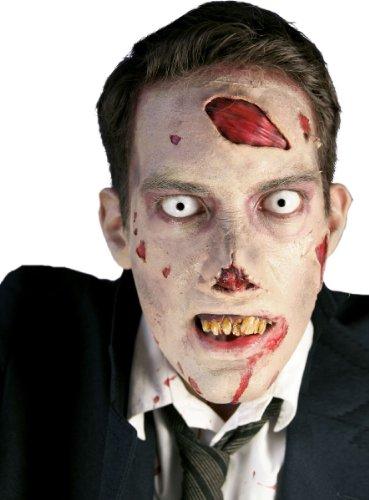 Kostüm Zubehör Gold Zahn (Zähne Gebiss Kostüm Zubehör Zombie Halloween Karneval)