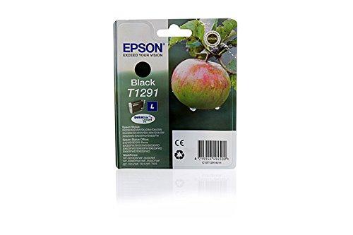 Epson Stylus SX 525 WD – Original Epson C13T12914010 / T1291 / Stylus SX420W Black Tinte –