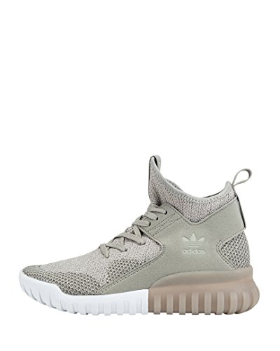 adidas Mädchen Tubular X Primeknit Hohe Sneaker Beige (Sesame/Clear Brown/Trace Cargo)