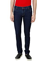 ANSH FASHION WEAR Men's Jeans - Contemporary Slim Fit Denims For Men - Washed Mid Rise Comfortable Jeans - Blue - B06XWY7WNS