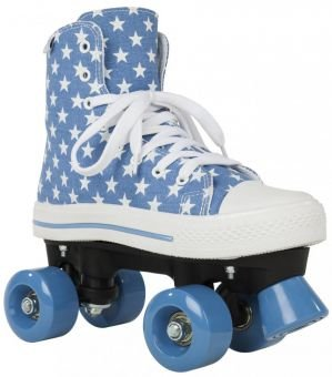 Rookie CANVAS HIGH STARS Roller Skate 2016 blue/white 36,5