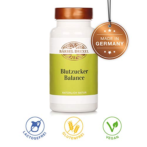 BÄRBEL DREXEL Blutzucker Balance Kapseln Regulat (216 Stk) 100% Vegane Herstellung Deutschland Magnesium Zimt Zink Chrom -
