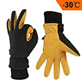 Best Winter Gloves For Men - OZERO Leather Gloves,Thermal Gloves for Warm Winter,Mens Review