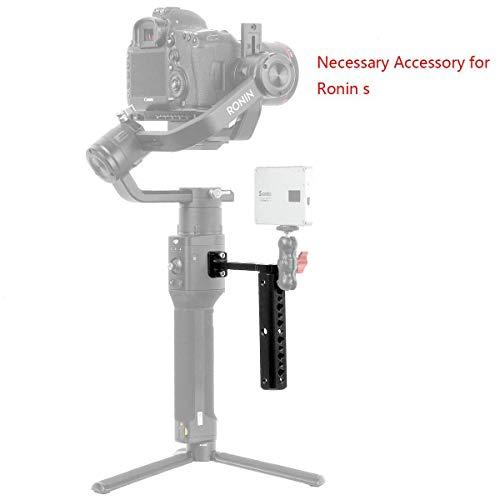 Sutefoto Vision Halteplattengriff Erweiterung Rods Bar Monitor Montieren Zubehör Kompatibel für DJI Ronin S Mikrofon zur Kardanischen Montage -