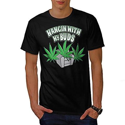 Leaf 420 Best Buds Rasta Men L T-shirt | Wellcoda