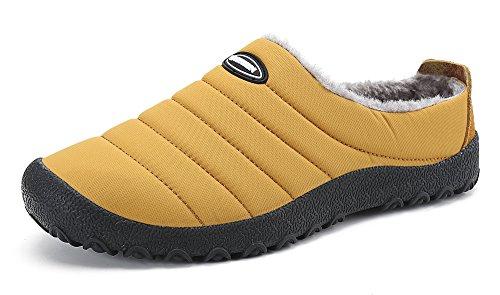 DAFENP Zapatillas de Casa para Hombre/Mujer Zapatillas Fluff Antideslizantes Invierno Cálido Confortables Casa Interior/al aire libre