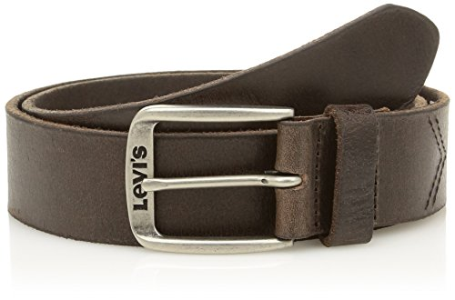 Levi's Men's Classic Top Logo Buckle Belt, Brown (Dark Brown), 100 cm (Manufacturer size: 100)