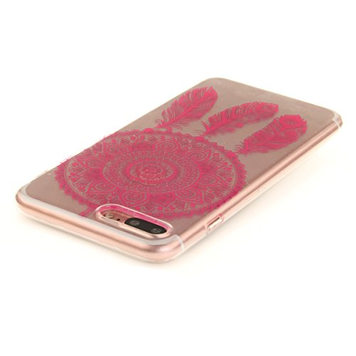 iPhone 7 Plus Hülle, iPhone 7 Plus Hülle, Gift_Source [ Pinguin ] Hülle Case Transparent Weiche Silikon Schutzhülle Handyhülle Schutzhülle Durchsichtig TPU Crystal Clear Case Backcover Bumper Case für E1-Rose Traumfänger