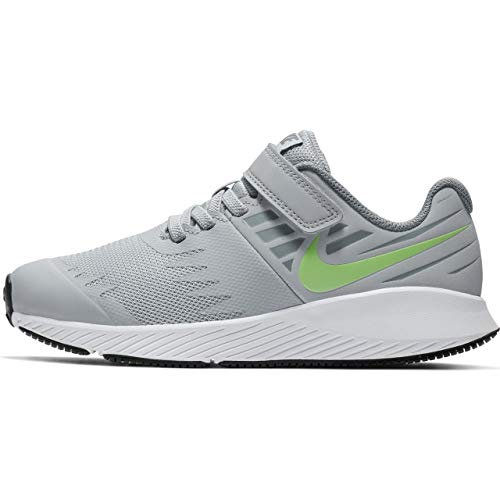 Nike Jungen Star Runner (PSV) Leichtathletikschuhe, Mehrfarbig (Wolf Lime Blast/Cool Grey 008), 35 EU -