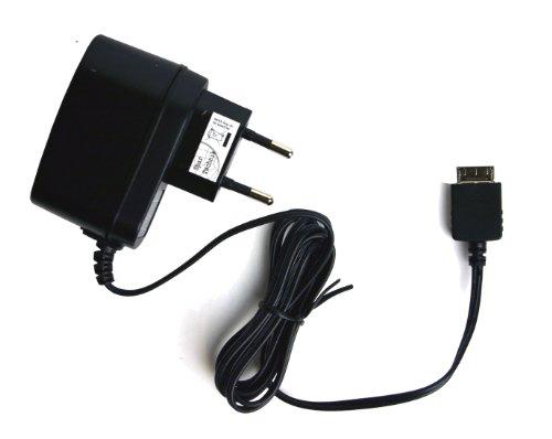 Spartechnik 230V Netzteil für Sony MP3 Player NWZ-A15 NWZ-A17 NWZ-ZX1 NWZ-F886 NWZ-E584 NWZ-E585 A15 A17 E585 E584 E886 ZX1 NW-A805 A806 A808 mit WM-PORT: Ladegerät für Steckdose 110-240 Volt schwarz -