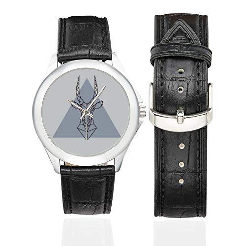 Freundin Uhr für Frau Hirsch Geweih schwarz Lederband Uhr Weihnachten Hirsch Strumpf Stuffers